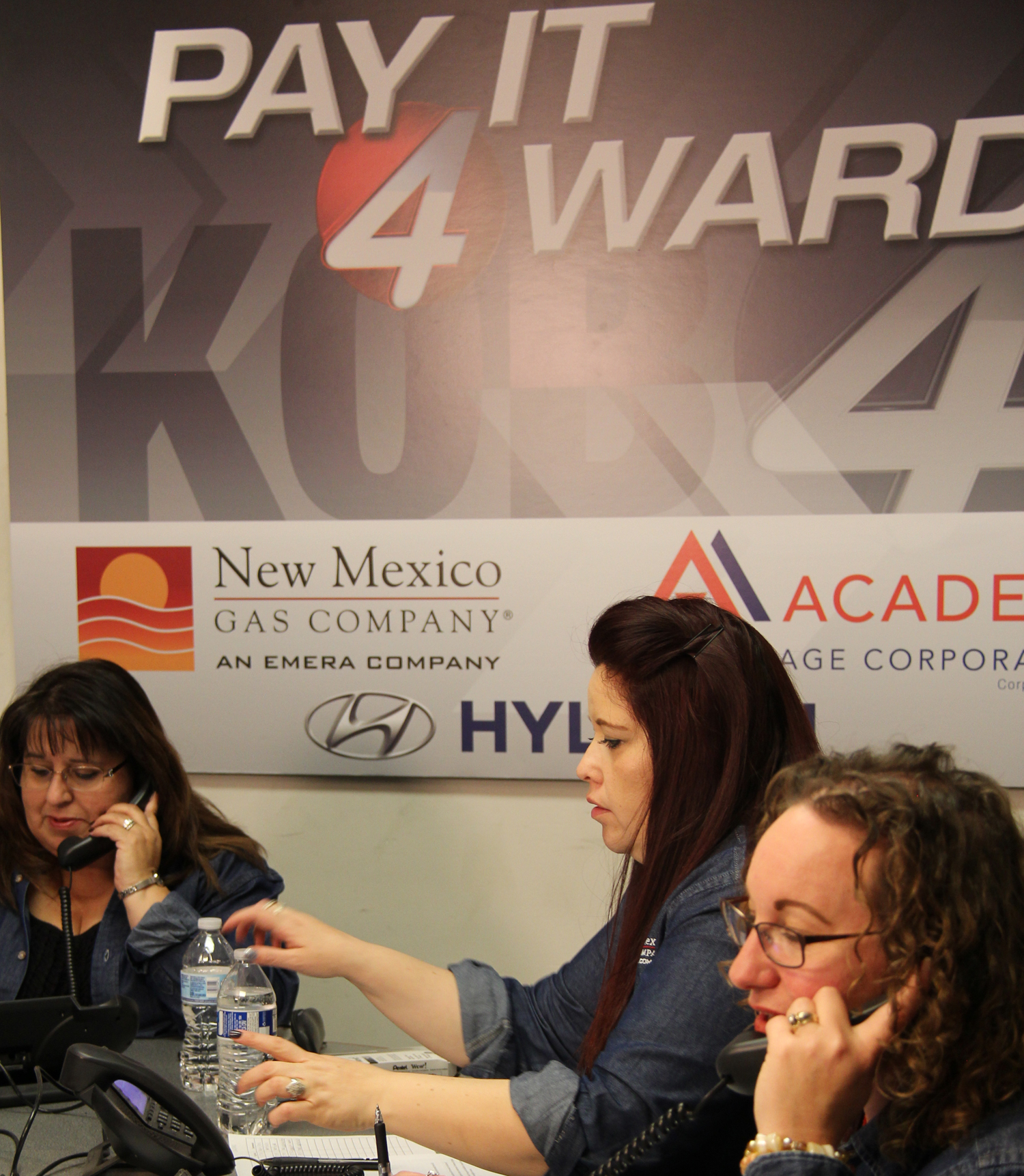 Albuquerque Call Center employees donate their time at the KOB phone bank.