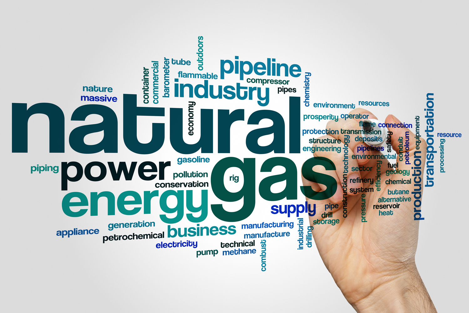 Natural gas words jumbled together.