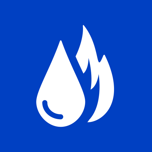 Icon of natural gas flames.