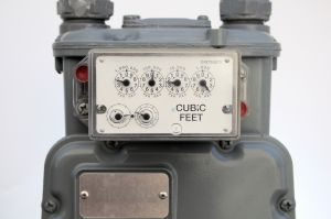 Image of a natural gas meter.